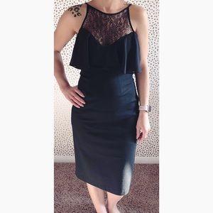 BCBG Black Midi Dress.